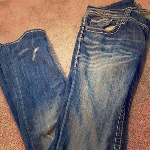 BKE denim Stella slim bootcut distressed size 29L